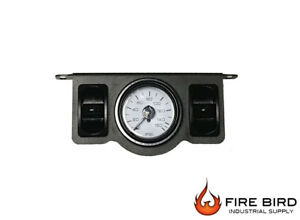 V Air Ride Suspension Dual Needle Gauge Panel 200psi 2 Paddle Switch Control