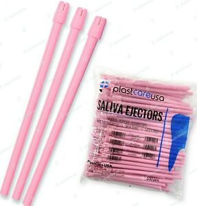 1000 10 Bags Pink Dental Saliva Ejectors Ejector made In Italy