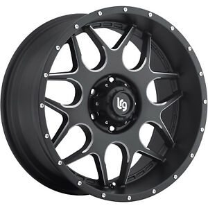 18x9 Black Milled Lrg 104 5x150 0 Wheels Nitto Trail Grappler 285 65 18 Tires