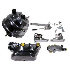 8 Dual Chrome Brake Booster Master Cylinder Proportioning Valve For Chevy