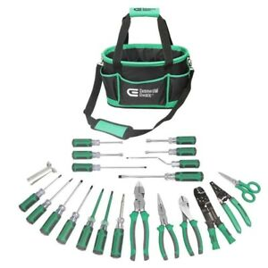 Electrician s Tool Set 22 piece Commercial Electric Screwdriver Bag Kit