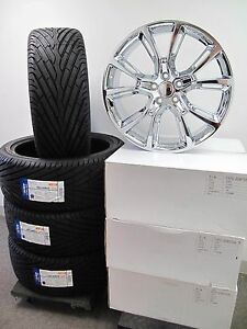22 Jeep Grand Cherokee Srt8 Style Chrome Wheels Tires Set Of Four 9113 New