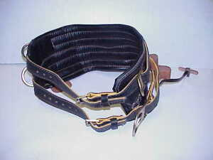 Jelco 8 Wide Lineman Climbing Belt With 4 d Rings Model 550 Only Used 3 Times