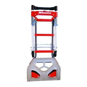 Milwaukee Hand Truck Convertible Fold Up Nose Plate 2 in 1 Dolly