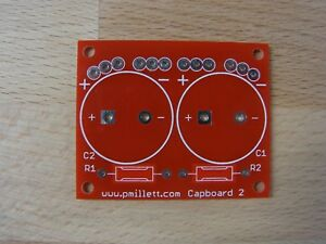 Diy Pcb Smaller Cap Board For Tube Amp for Snapmount Electrolytic Caps