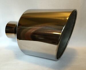 Polished Stainless Dodge Weld On Diesel Exhaust Tip 4 In 12 Out 18 L