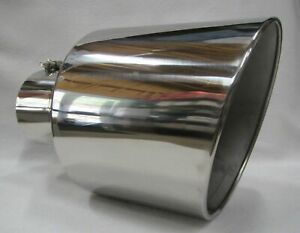 Dodge Polished Stainless bolt On Diesel Exhaust Tip 5 In 10 Out 15 L