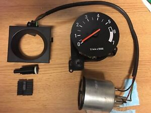 Volvo 240 80mm Big Tach Small Clock Upgrade Kit 242 244 245 Turbo Tachometer 89