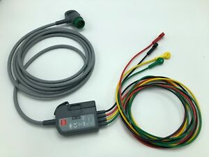 Physio Control Lifepak 12 15 Ecg Trunk Cable Ref 11111 000021 Pn 3302822 011