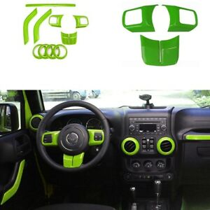 Green Car Inner Decoration Dashboard Trims Cover For Jeep Wrangler 2011 17 2 dr