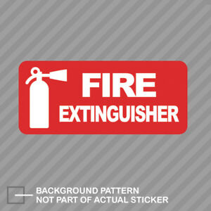 Fire Extinguisher Sticker Decal Vinyl Safety Suv Car Truck Protection