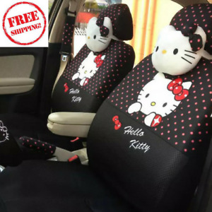 Hello Kitty Car Universal Full Seat Covers 18pcs Interior Accessories New
