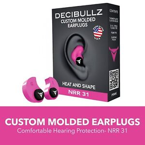 Custom Molded Ear Plugs Hearing Loud Noise Protection For Travel Sleep