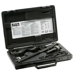 Klein Tools Knockout Punch Set With Wrench Set 9 Piece Hand Tool