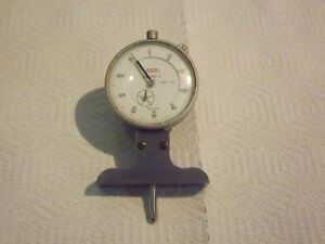 Starrett 644 Dial Depth Gage Base With Spi Dial Indicator