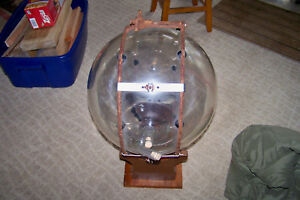 Old Pyrex Glass Milk Receiving Ball With Graduations About 8 Gal Surge Milker