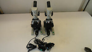 Lot Of 2 The Skope By Science Kit Microscope With Objectives