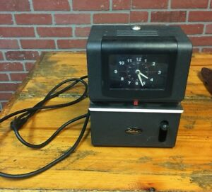Vintage Lathem Time Punch Clock 2121 Card Wall Table Recorder Company No Keys