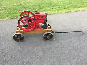1 1 2 Economy Hit Miss Gas Engine Running Engine Great Condition