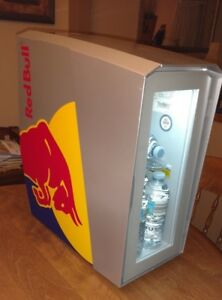 Red Bull Slim Countertop Eco Led Cooler Used Works Great
