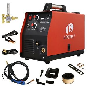 Lotos Mig140 140 Amp Mig Wire Welder Flux Core Welder And Aluminum Gas Shielded