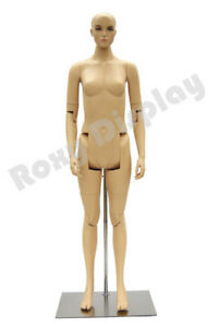Female Mannequin Dress Form Display With Flexible Head Arms And Legs mz fm02 s