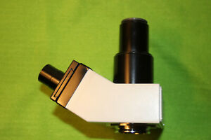 Leitz Microscope Trinocular Head For 43 5mm With Eyepieces And Photo Tube