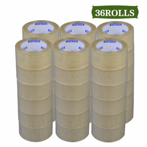 36 Rolls Clear Shipping Packing Carton Sealing Tape 1 8 Mil 2 X 110 Yards 330ft