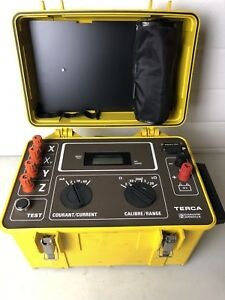 Chauvin Arnoux Ca Terca Earth Resistance Tester Calibration Unit Tested