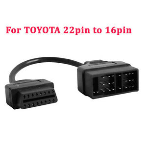 22pin Obd1 To 16pin Obd2 Convertor Adapter Cable For Toyota Diagnostic Scanner