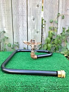 2 Top Quality Sprinkler Bases W Rain Bird Fast Return 25a Brass Sprinklers
