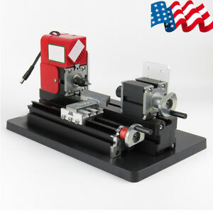 Portable Mini Metal Wood Lathe Motorized Machine Woodworking Tool Model Making