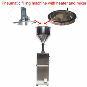 Free Shipping Vertical Full Pneumatic Cream Filling Machine With Heater mixer