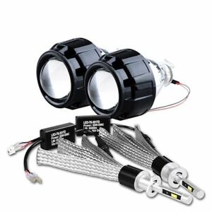 2 5 Hid Xenon Projector Lens H1 Led Headlight Beam Bulbs Retrofit H4 H7 Plug