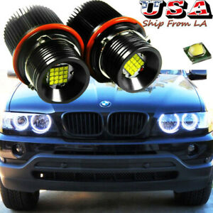 2x 160w White Angel Eyes Ring Marker Led Light Bulbs Drl For Bmw E39 E60 E63 E53