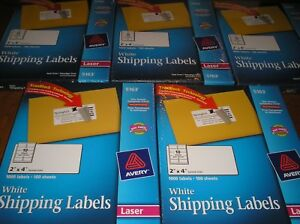 Lot Of Avery 5163 White Shipping Labels For Laser Printers 2 X 4 1000 Labels