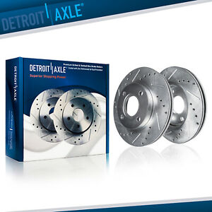 Front 262mm Disc Drilled Slotted Brake Rotors For Honda Civic Fit Acura Integra