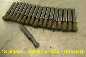 Wholesale Lot 18 New Solid Carbide End Mills Weighs 4lbs 11oz Scrap Or Retail