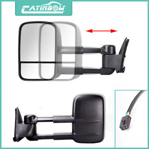 Left Right Power Tow Mirrors For 88 98 Chevy Gmc C10 C k 1500 Pickup Truck