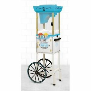 Snow Cone Machine Maker Cart Vintage Electric Kit Slushy Ice Shaver Commercial