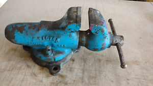 Vintage Wilton Bullet Swivel Bench Vise 3 5 3 1 2 Jaws Used