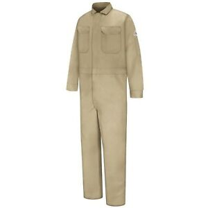 Bulwark Excel Fr Deluxe Coveralls Mens Size 54 Khaki Flame Resistant Nomex