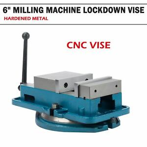 6 Milling Machine Vise Lockdown Cnc Hardened Bench Clamp Clamping