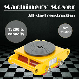 6t Industrial Machinery Mover With 360 rotation Cap 13200lbs Swivel Top