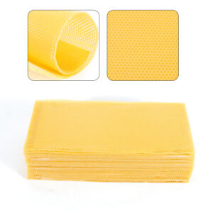 30pcs Pack Honeycomb Wax Frames Beekeeping Foundation Honey Hive Equipment Bee