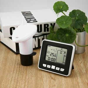Wireless Ultrasonic Water Tank Level Meter Sensor W thermometer Transmitter Rt
