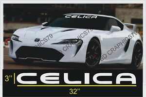32 Toyota Celica Windshield Window Banner Vinyl Decal Illest Jdm Car Sticker