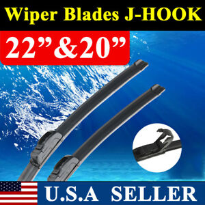 22 20 Jhook Windshield Wiper Blades Oem Quality Beam All Season Premium