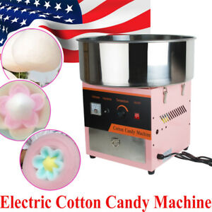 Tasty Commercial Electric Cotton Candy Machine Floss Maker Carnival Party Pink