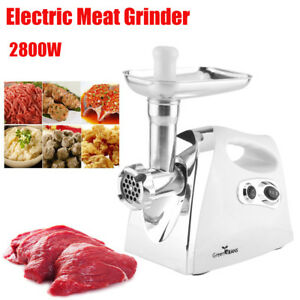 2800w Home Kitchen Electric Meat Grinder Stainless Steel Sausage Maker Tool Fg
